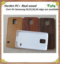 New Arrival Hybrid Rugged Matte Rubber wood Hard Cover Case For samsung s5
