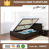china wholesale synthetic leather double bed,bedroom furniture bulk buy from china,storage bed frame with gas lift SS8021
