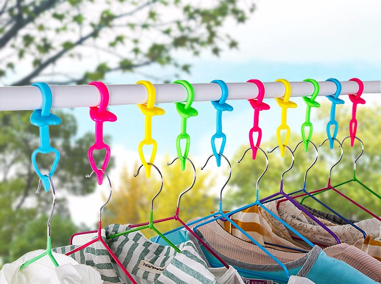 RENJIA clothes hanger drying rack shook hangers silicone pant hanger