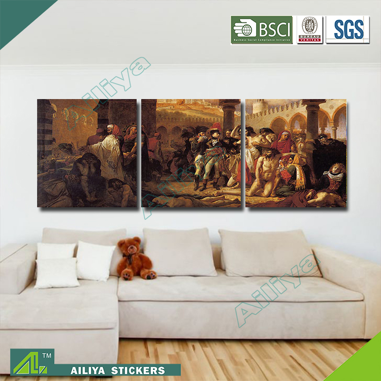 Home decor customized modern canvas three panel menglei painting by numbers