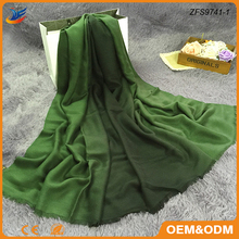 excellent feel imitation cashmere material promotion ombre scarf