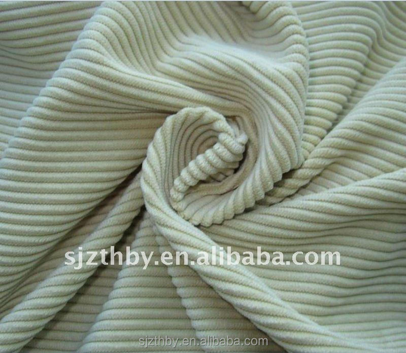 Cotton dyed corduroy fabric for women trousers with braces