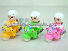 Plastic pull line Traffic police motorcy toys,Cartoon pull line motorcy,pull string motorcy toys for kids