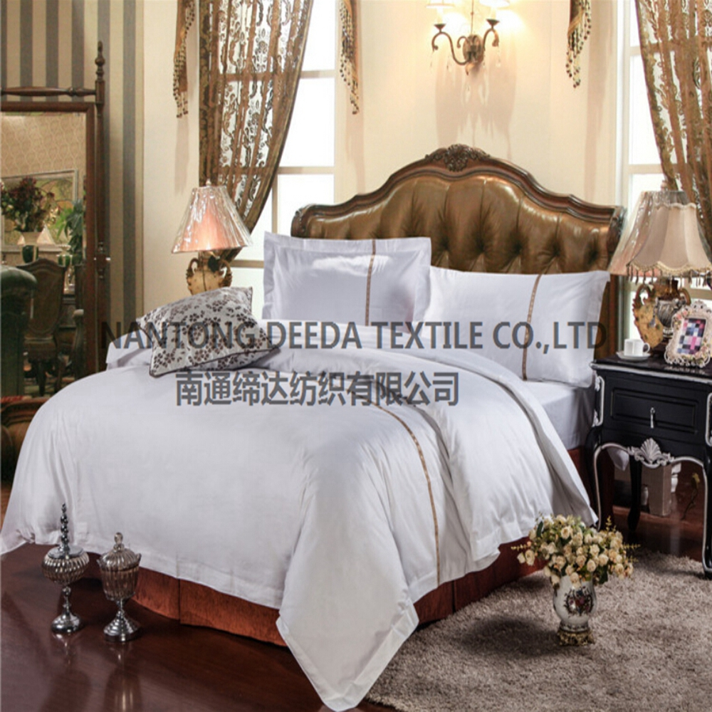 luxury cotton ribbon embroidery bedding set