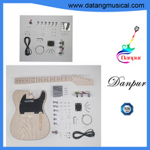 Danpur string instrument unfinished cheap electric guitar kits body