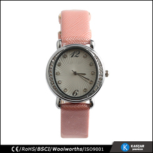 cheap watch for promotion lady style cross leather strap watch quartz stones