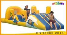 Inflatable Water toys /water park game inflatable L shape slide for kids to sale