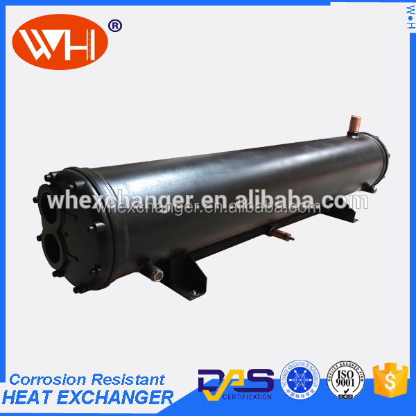 WHT-WN45 marine engine water heat exchanger, titanium shell and tubes water condenser, stainless steel condenser for sale