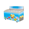 268L Ice Cream Freezer With LED AD Frame