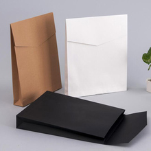 Custom Logo printing Scarves/Underware Packaging Kraft Paper Envelope Bag For CLothes Packing