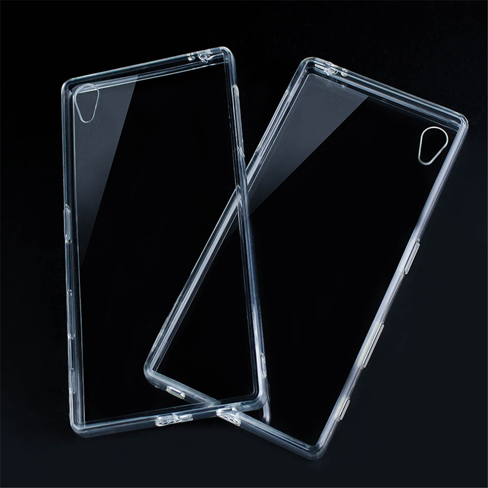 clear soft tpu back cover case for sony xperia z5