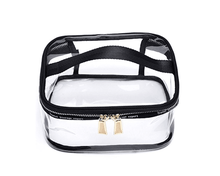 Transparent Toiletry Bag Portable Clear Makeup Cosmetics Bag Zipper Waterproof With Handle Travel Organizer Case