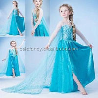 Beautiful halloween nude cosplay elsa anna costume for kids QKC-1281