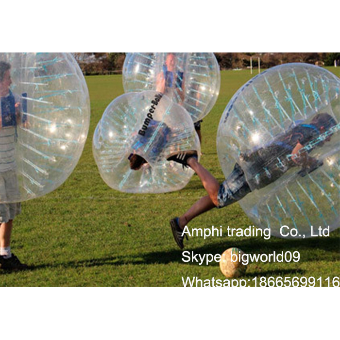 Cheap football outdoor widely placed loopyball/bubble bumper bal