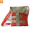 Blockcolor Canvas Messenger Satchel