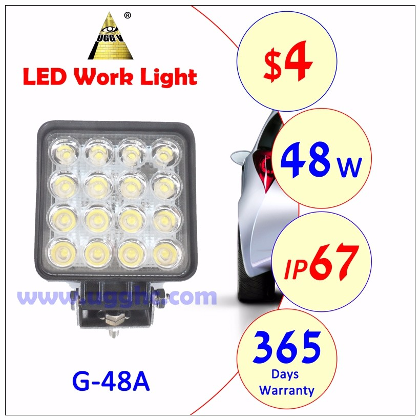 48W Square led working light factory price