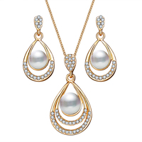 fashion pearl wedding jewelry set for women Wholesales N95261