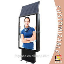 Advertising material electric scrolling led display stand solar power light box