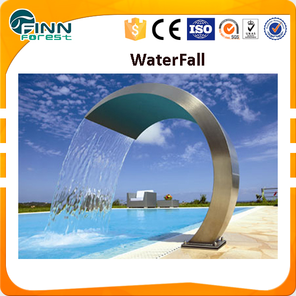 Stainless Steel water curtain Waterfall Spillway with LED light