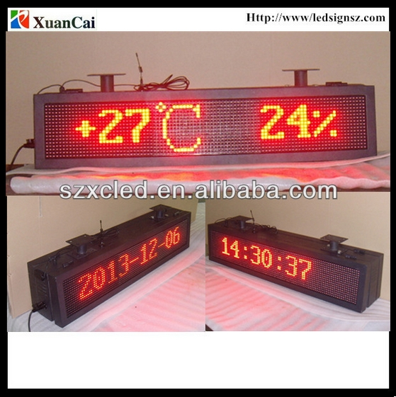 40 '' inch Red color RF wireless communication Double sided outdoor advertising LED display screen