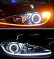 CE Certification LED Lamp Type dual color Turn Signal Flexible LED DRL strip with sequential yellow color change