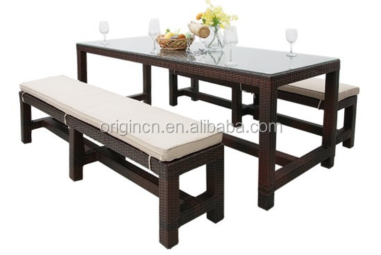 simple classic outdoor bench matching long narrow rectangular table and thick cushion cheap dining tables for sale