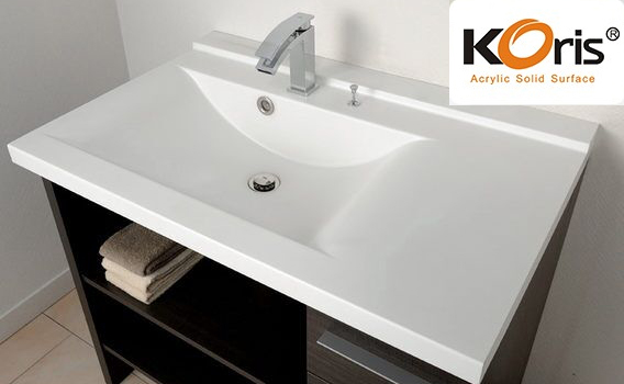 Solid Surface Bathroom Sink And Countertop