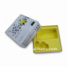 Disposable Yellow PVC Flocking Blister Plastic Slide Binding Tray