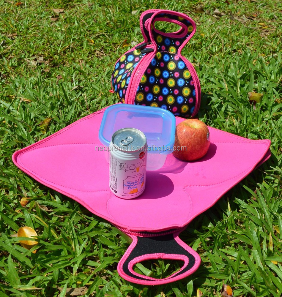 eco-friendly cute kids neoprene lunch bags food bag