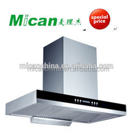 T-shape commercial china kitchen range hood with oil collector J6-1