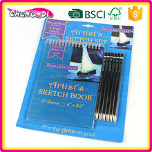 Best Selling pencil sketch painting, pencil sketch pad, pen touch pad