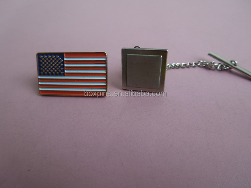 U.S. Flag Tie Tack & Cuff Link Set in Presentation Box
