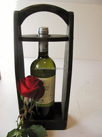 Custom Vintage Wooden Wine Carrier,Antique Single Bottle Wine Tote