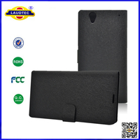 2014 New Product Silk Pattern Wallet Leather Flip Case Cover for Sony Xperia T2 Ultra