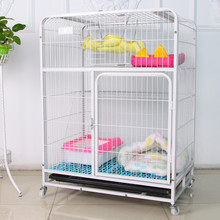 economic and cheap durable pet animal cat cage kennel with wheels