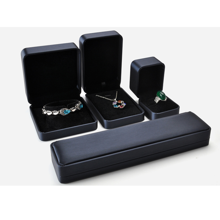 Best Selling Products Noble Black Jewelry Box with Velvet Insert