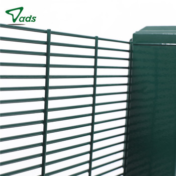 High quality Welded Mesh 358 Security Fence Anti Climb Panel Fence