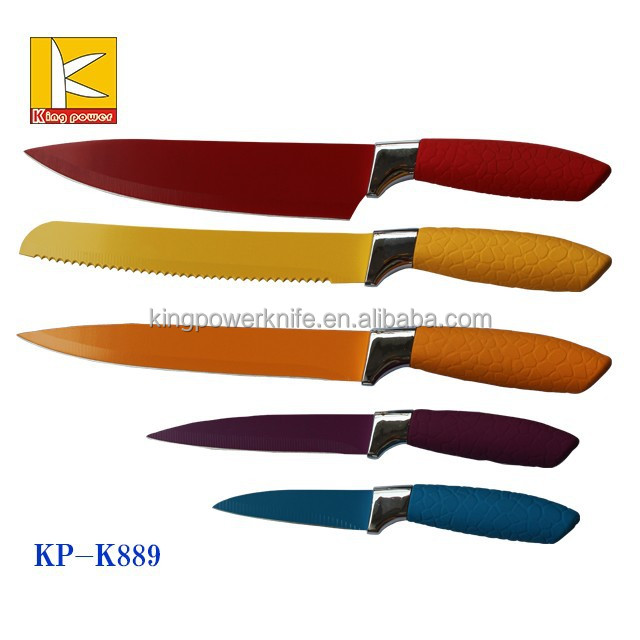 new design handle swiss Royalty line non stick knife set