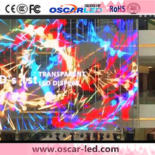 XT8 led display transparent glass window/wall panel led video glass rgb display