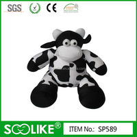 Funny beads baby plush cow pillow