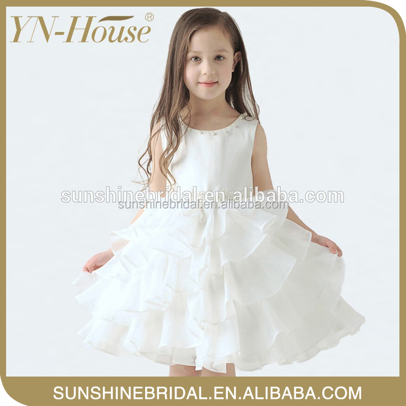 discount White Bridal kids traditional dresses