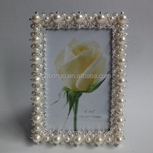 big pearl wedding picture photo frame