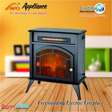 Free standing fire place with real flame and remote control