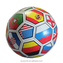 2017 hot sale various country flags pvc machine-sewing soccer ball football