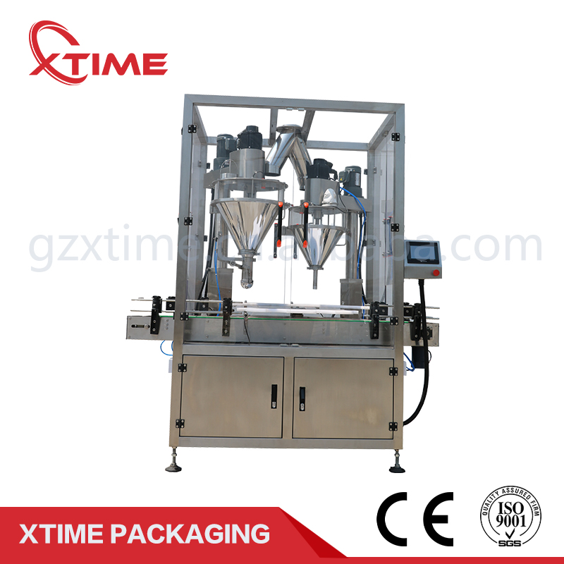 High efficiency PLC control automatic net weight dry powder filling machine