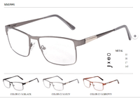Full rim metal alloy optical frames square shape men's eyewear with nose pad