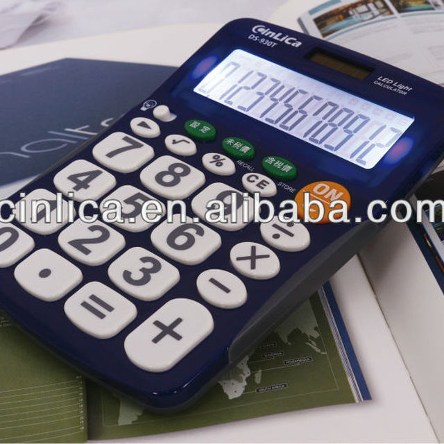 calculator with backlight/LED calculator /patent calculator DS-930T