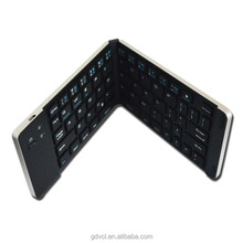 Metal Wireless Folding Keyboard Ultra Slim Rechargeable Bluetooth Keyboard for Windows iOS Mac Android T