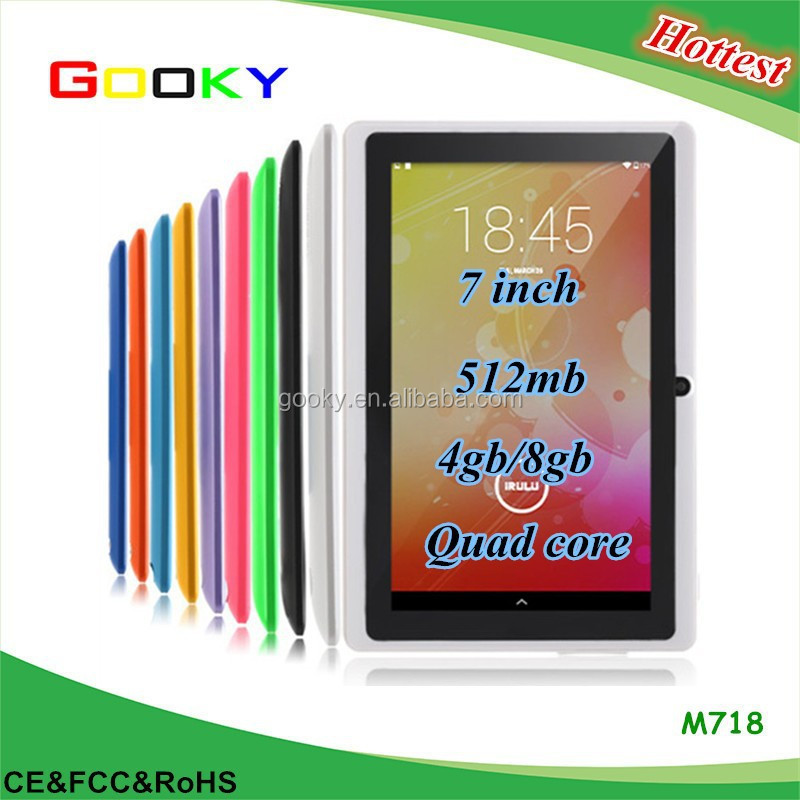 5 Colors 7 inch Andriod Q88 Tablet PC Dual Core External 3G, 512MB+8GB Android 4.4 Tablet PC 7 Inch
