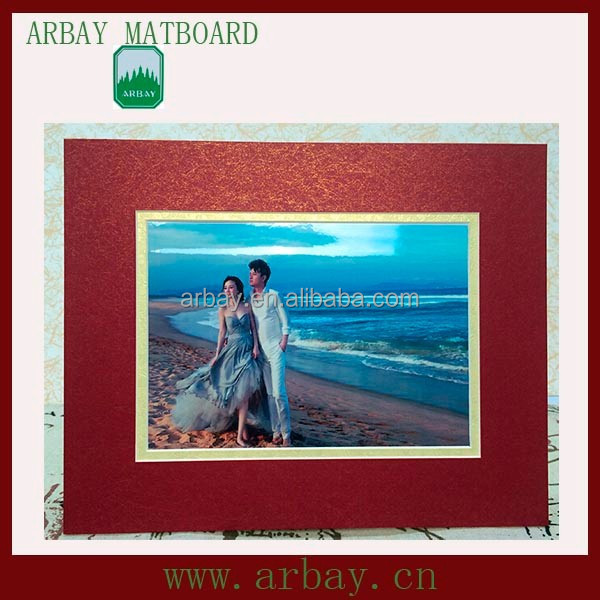Wholesale precut Customized Red Photo Picture Frame Paper Card
